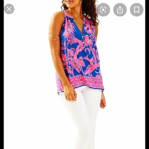 Lilly Pulitzer Size XS Night Caw Bailey Top